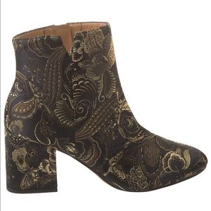 FRANCO SARTO OLYMPIA EMBROIDERED BOOTIES